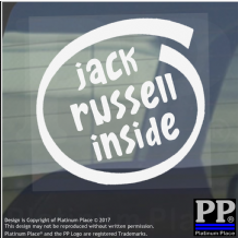 1 x Jack Russell Inside-Window,Car,Van,Sticker,Sign,Adhesive,Dog,Pet,On,Board